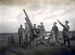 The crew of a 7.7 cm L/27 BAK (Ballon-Abwehr-Kanone) (Krupp) anti-aircraft gun 'in action' ( drakegoodman ) Tags: crew worldwarone soldiers ww1 nco greatwar firstworldwar corporal worldwar1 bayonet howitzer kanone germanarmy fieldgun germansoldiers rppc infantrymen kar98 feldpost cannpn troddel feldmutze krtzchen