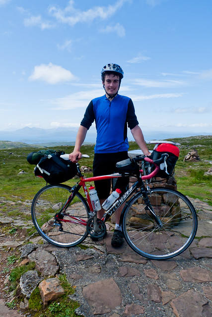 Me at the top of Bealach na Ba