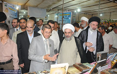 زيارة وكيل المرجع الديني الاعلى سماحة السيد علي السيستاني (دام ظله) الى جناح العتبة الحسينية المقدسة