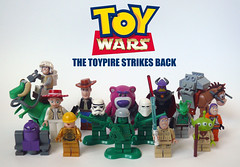 Toy Wars (Oky - Space Ranger) Tags: jessie buzz toy star back lego anniversary alien luke woody disney story solo darth pixar empire lightyear wars vader strikes han chewbacca leia skywalker zurg