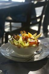 greek yogurt with fresh fruit and honey (wood & wool stool) Tags: summer food holiday fruit honey tavern blogged yogurt