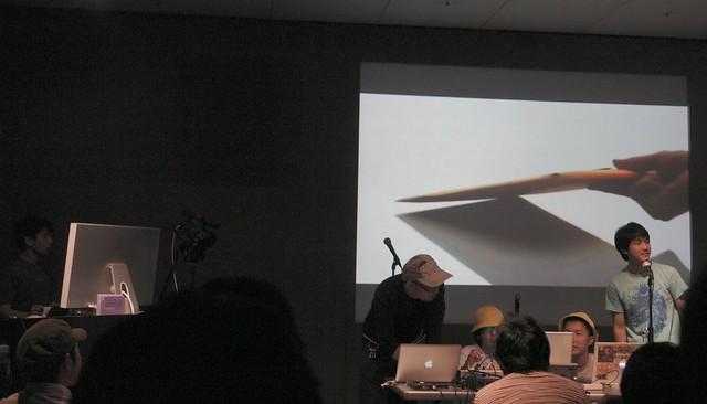 Apple store live!  DJ Gassyoh, VJ Cobalt Bomb alpha omega!