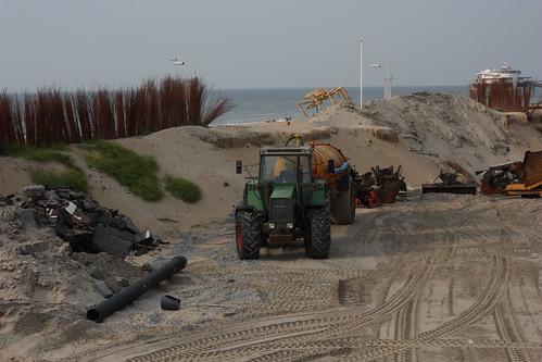 New dyke in Scheveningen - Dique novo em Scheveningen