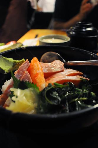 生鮭魚丼飯
