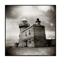 Howth (Monosnaps) Tags: old city ireland our urban bw howth dublin irish lighthouse fish poster photography coast holga photographer market harbour postcard images lo eire chips east special posters friendly fi eddie vignetting dub dubs everyones mallin dirtyoldtown monosnaps holgablackandwhite filmholga mydublin holgainblackandwhite holgainmono