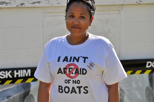 I ain't afraid of no boats!