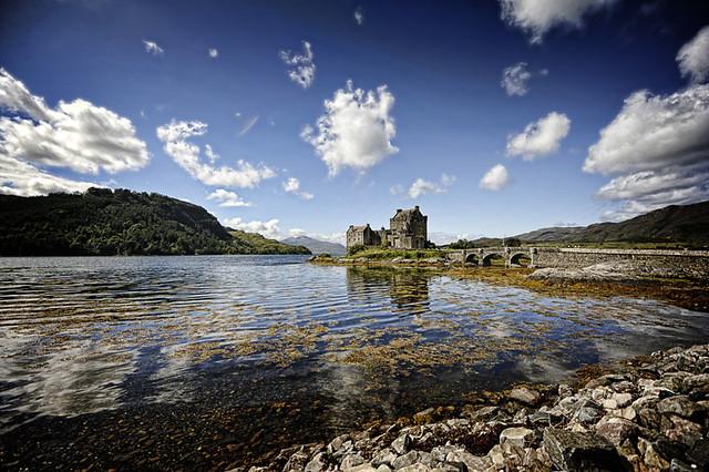 Castillo de agua en Escocia