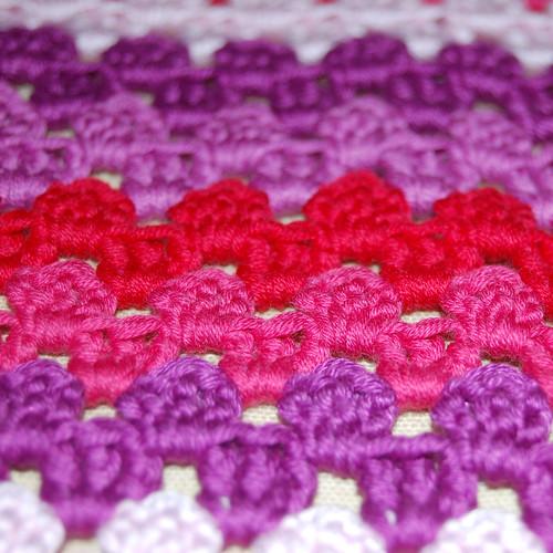 Grannystripe scarf WIP 2
