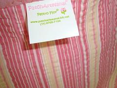"""Bolsa do Atelier Feltro Flor! (""""Feltro Flor"""") Tags: quilt patchwork bolsa bolsas aula molde tecido bordado costura necessaire"""
