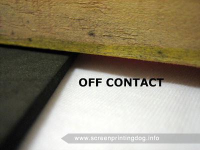 off contact screen printing press