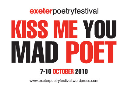 Exeter Poetry Festival promotional postcard