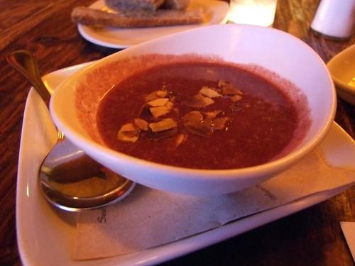 a cold plum and vodka soup