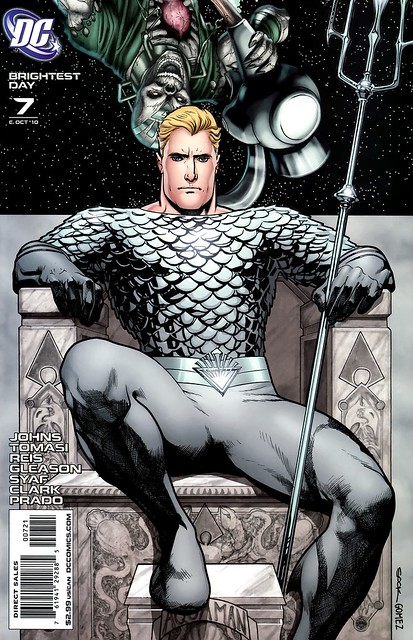 Ryan Sook White Lantern Aquaman variant cover from Brightest Day 7