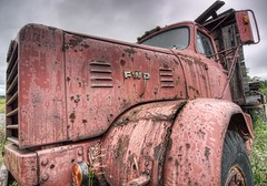 RustyRedTruck-HDR (CUCKOOPHOTHOG) Tags: birthday camera ontario canada lens photographer events country places roadtrip nd trucks 12 foundobjects filters 06 hitech province metallics gnd hwy144 softedge nikond300 atx116prodx tokinaatx116 ruiferreira