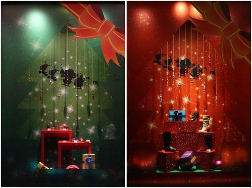 信義區聖誕櫥窗裝飾