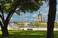 Quiet Place (My Hometown ) (scorpion 13 I'm in vacation ;o))) Tags: from park city panorama sun green nature clouds germany view walk cologne historic frame around rhine bellissima rheinpark inthemood abigfave crystalaward infinestyle citrit theunforgettablepictures updatecollection