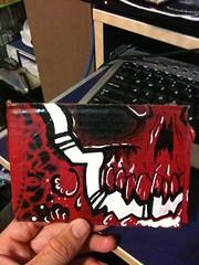 skullboard (Stupid-Dog) Tags: skull stencil cardboard