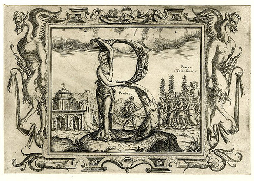 002-Letra B-Grotesque alphabet in mythological landscapes-© The Trustees of the British Museum