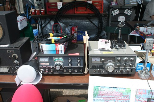 """Swan 500 and Kenwood TS520 at Dayton flea market • <a style=""""font-size:0.8em;"""" href=""""http://www.flickr.com/photos/10945956@N02/4923962011/"""" target=""""_blank"""">View on Flickr</a>"""