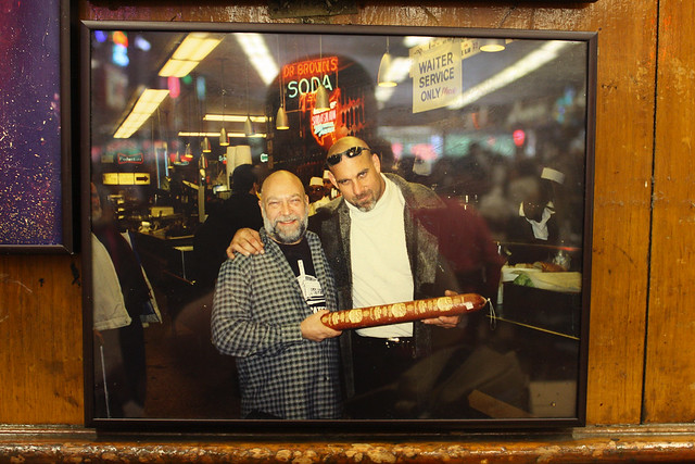 Goldberg at Katz's Deli, by MacDara on Flickr.