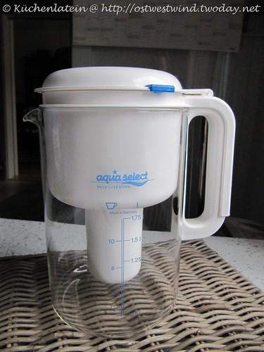 Wasserfilter mit Glaskanne