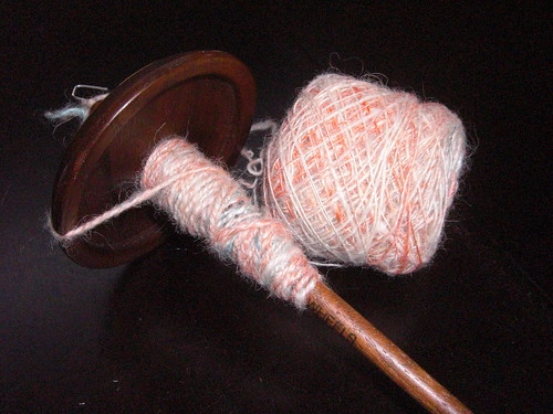 Plying on a spindle
