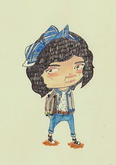 what i wore to go to the library (Rebecca French Illustration) Tags: what wore