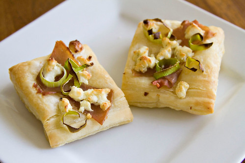 Leek and Prosciutto Puff Pastries - 7