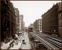 Wabash Ave., north from Adams St., Chicago, Ill September 1, 1900