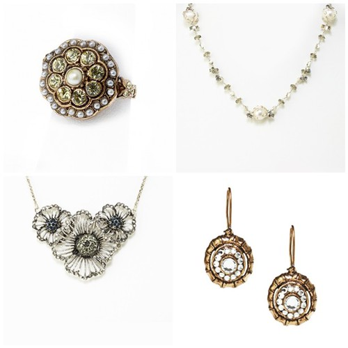 Complement your vintage wedding theme with vintage bridal jewelry finds that