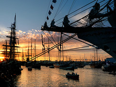 Sunset at Sail Amsterdam by B?n