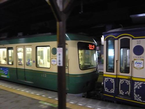江ノ電502F+10F稲村ヶ崎行き最終電車@長谷