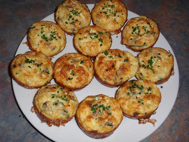 SCRAMBLED EGG MUFFINS SERVED