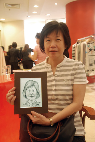 Portrait live sketching for Marella boutique - 1