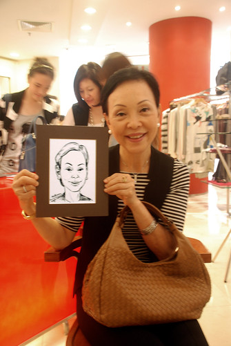 Portrait live sketching for Marella boutique - 5