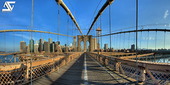 Brooklyn bridge (A.G. Photographe) Tags: new york city nyc usa ny newyork france brooklyn america skyscraper us nikon manhattan unitedstatesofamerica cable rope brooklynbridge manhattanbridge eastriver nikkor amerika franais hdr lowermanhattan anto amricain xiii amrique 16mmfisheye d700 antoxiii hdr7raw