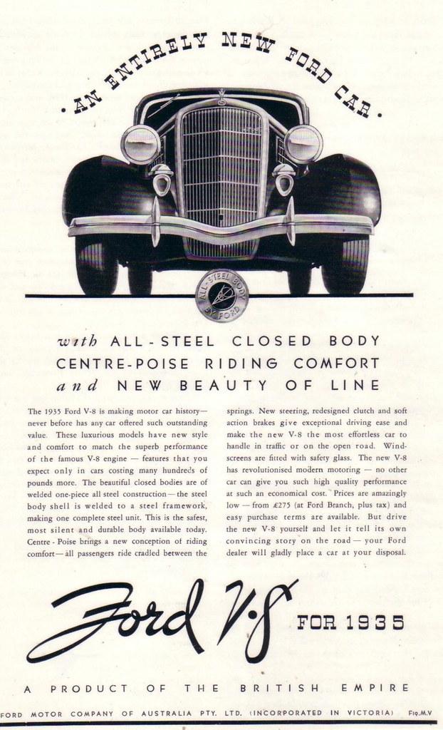 1935 Ford V8 Sedan Ad