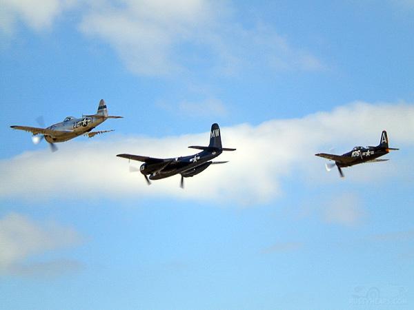 P-47 Thunderbolt,F7F Tigercat, F8F Bearcat