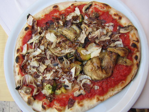 Vegan Grilled Vegetable Pizza