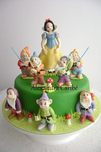 Bolo Branca de Neve- Snow White cake