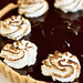 Chocolate-Peanut Meringue Tarts