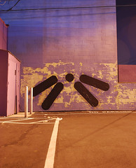 Composition 5 (LineLineDot) Tags: california street new city urban black brick art wall composition photography graffiti design la losangeles los paint angeles object space dot line negative vandalism positive minimalism artnow suprematism linelinedot