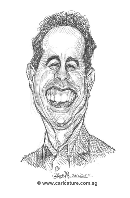 digital caricature of Jerry Seinfeld - 2