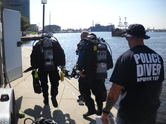 diving  in baltimores inner harbor. (billedgar8322) Tags: city harbor boat bill ship dive police maryland scuba baltimore inner edgar diver