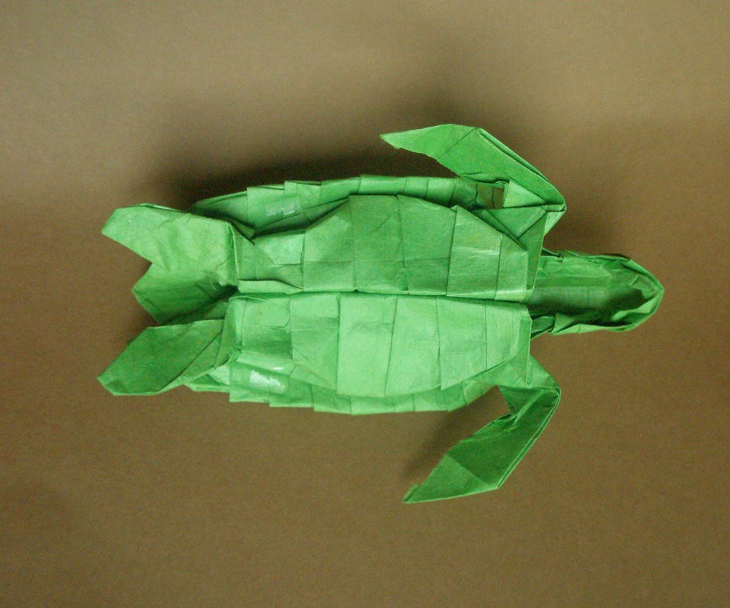 The worlds newest photos of origami and seaturtle flickr hive mind sea turtle by kamiya satoshi folded by artur biernacki arturori tags art jeuxipadfo Image collections