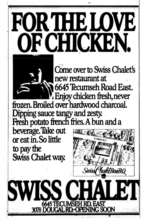 Vintage Ad #1,190: For the Love of Chicken (Swiss Chalet Comes to Windsor)
