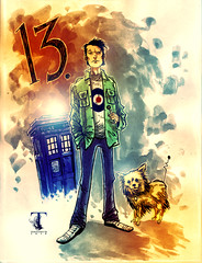 The 13th Doctor (Ben Templesmith) Tags: art comics doctorwho bbc drwho tardis whitechapel warrenellis k9 templesmith