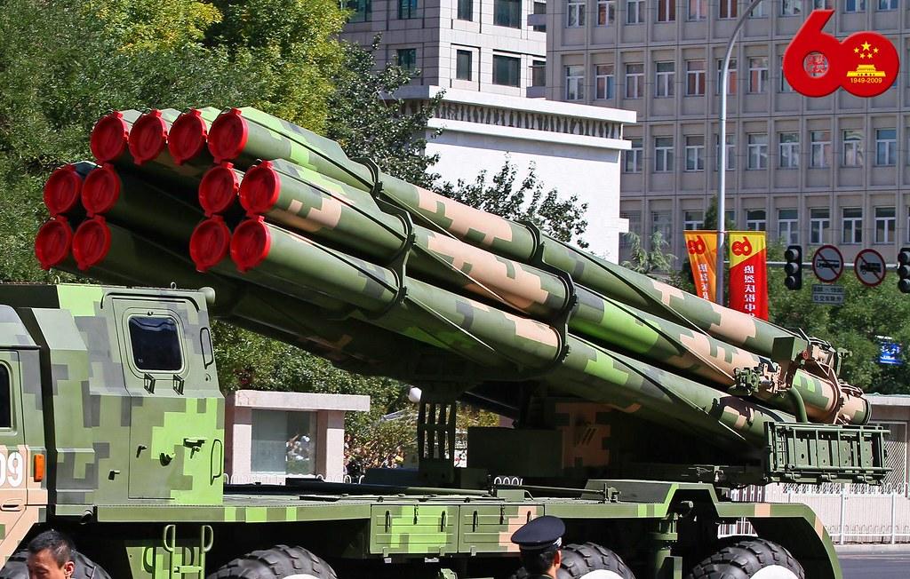 phl-03式远程火箭炮_PHL03式远程火箭炮地面展示