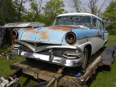 1956 Meteor Niagara wagon (quanticchaos1000) Tags: blue summer 3 hot ford car wagon cool rat edmonton parts country canadian niagra chrome alberta rod 1956 unusual trailer rare tone meteor haul quanticchaos1000