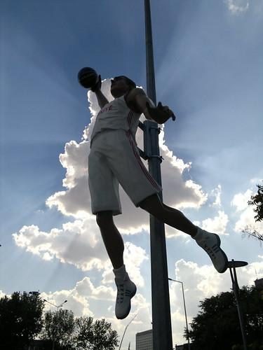 Basketballer from above
